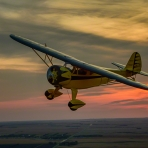 A Romantic Sunset Flight