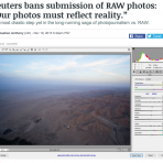 Reuters bans submission of RAW photos