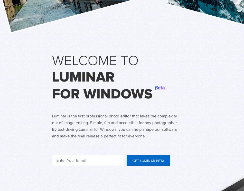 Luminar Win Public Beta!