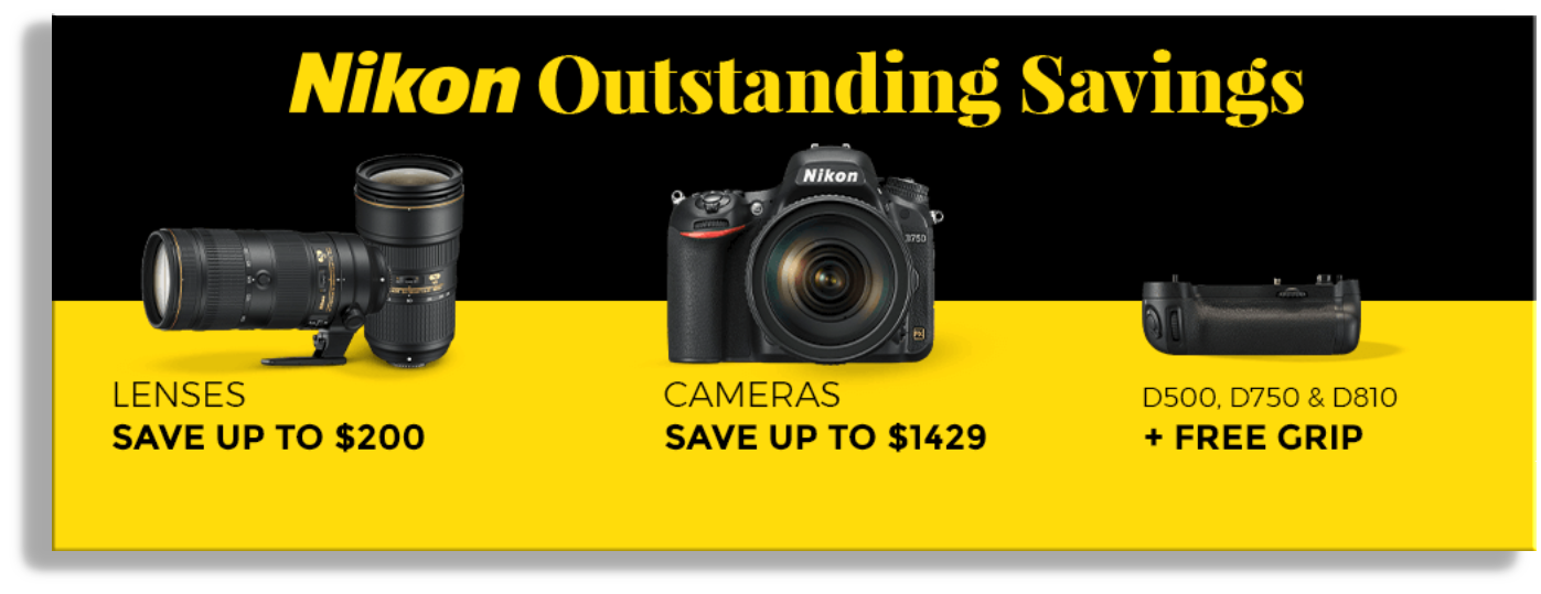 "B&H ""Pre Black Friday"" Nikon Savings"