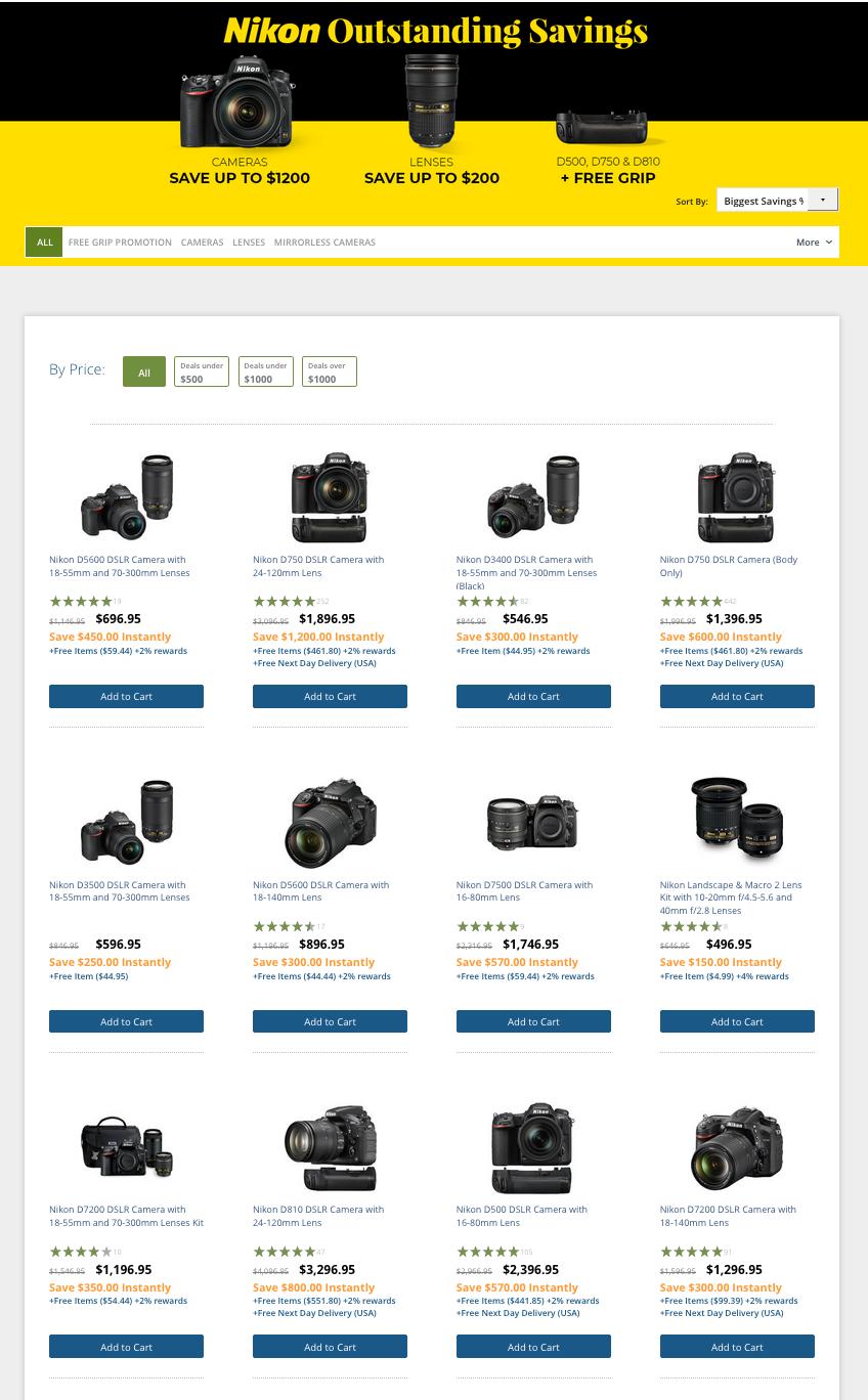 B&H / Nikon Holiday Sales Now!